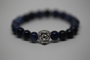 Bracelet - Blue with lion's head