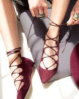 Chase & Chloe Lace-up Flats