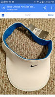 Nike AirMax blue/white visor