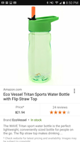 Eco Vessel clear green water bottle