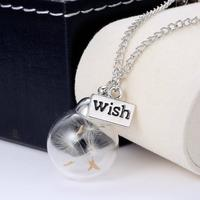 Some see a weed, some see a wish Dandelion Necklace
