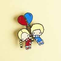 Patty & Jimmy Enamel Pin Set Sanrio Small Gift Crate
