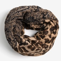 David & Young Leopard and Lace Print Scarf