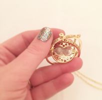 Harry Potter time turner large gold necklace