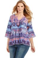 Tunic in Blue Rug Print