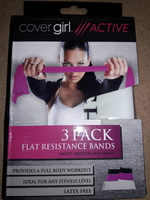 Cover Girl Active 3 Pack Flat Resistance Bands