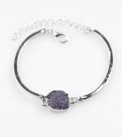 Purple Druzy Bracelet