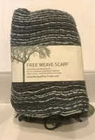 Marquet Fair Trade Free Weave Scarf - Charcoal Fusion