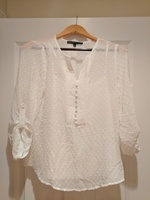 Brixon Ivy white textured top, size small