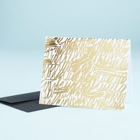 Gold Scribble Foil Card