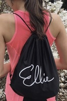 Black Ellie Drawstring Backpack