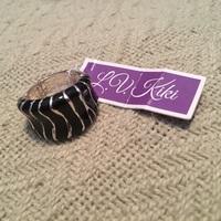 LV Kiki black and silver ring