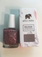 Ella +  Mila pink sparkle glitter nail polish