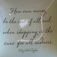 Blue & Cream Glass Tray - Elizabeth Taylor Quote