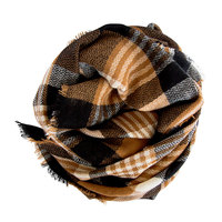 Modcloth Loch & Key Blanket Scarf: black/brown