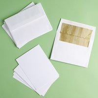 8 Notecards and Gold-Lined Envelopes