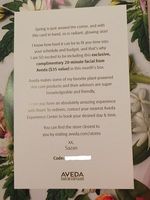 Complimentary 20-minute Facial from Aveda