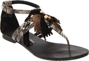 Chinese Laundry Ginger Snap Black Multi Sandal 9 from Little Black Bag