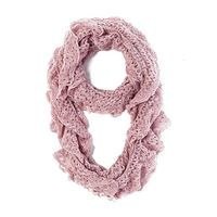 The Accessory Collective Lace Infinity Scarf in Pink from Little Black Bag