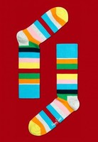 Rainbow Striped Cotton Socks by Happy Socks