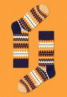 Happy Socks - Zig Zag Orange Navy