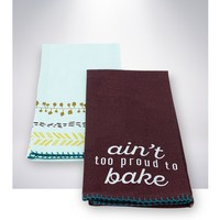 Ain't Too Proud To Bake Tea Towels, 2pk