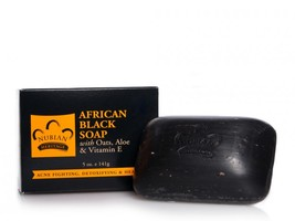 Nubian Heritage African Black Soap facial cleansing bar