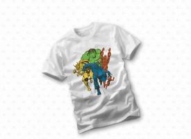 Unisex 4XL White Avengers Marvel T Shirt from Nerd Block