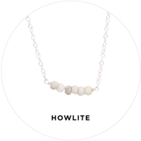 Kris Nations Mystic Bar Necklace in Howlite