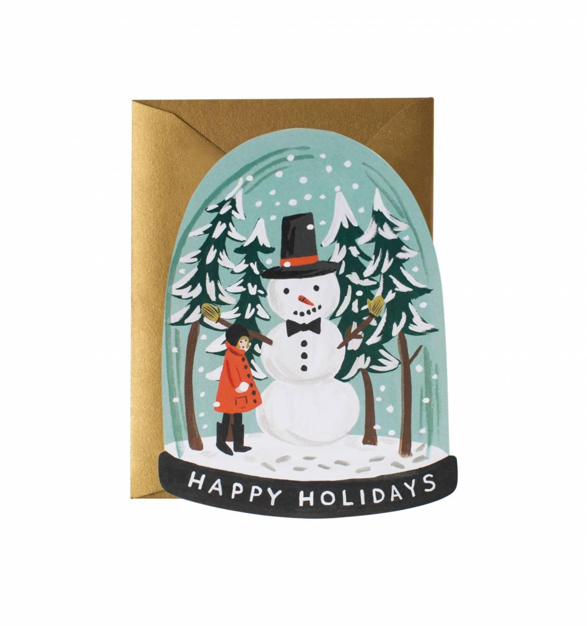 Rifle Paper Co. Snow Globe Greeting Card