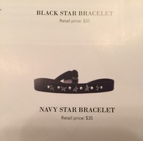Les Interchangeables Navy Star Bracelet