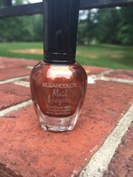 Kleancolor metallic orange nail polish