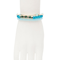 Catherine Stein beaded bracelet set - blue