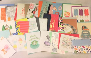 25 Piece Stationary Pennie Post / Happy Mail Lot