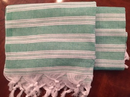 Luxe Pineapple Cotton Turkish Towel Green