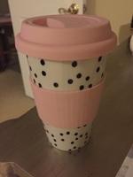 Porcelain polkadot coffee tumbler