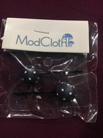 Black polka dot Bobby pins