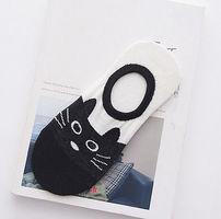 Cat no show socks (black kitty)