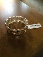 Robert Rose Twist Link Silver Hinged Bracelet