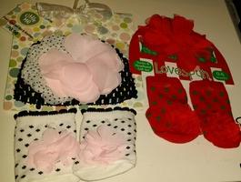 Socks & Headband/Crochet Hat Set