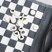Sondergut Roll-Up Travel Chess / Checkers