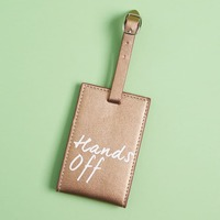 """Hands off"" luggage tag"