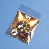 Exclusive DOOM Badge Pin Pack