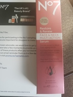 no 7 restore and renew multi action serum for face and neck