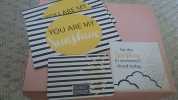 Sunshine postcards, sticker & Scripture card