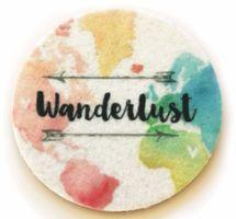 Wonderlust car cup holder coasters