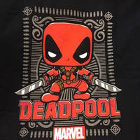 Deadpool Ornate Black T-shirt - Size Large