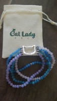 Calming kitty bead bracelet (exclusive by cat lady box )