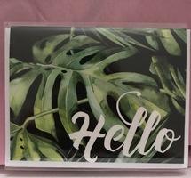 "Tropical Leaf ""Hello"" Card"