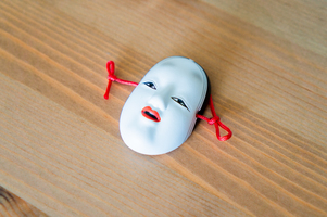 Okame Japanese Ceramic Noh Mask (Small)